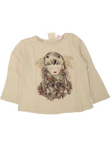 Camiseta de manga larga niña ZARA beige 3 años invierno #1498078_1