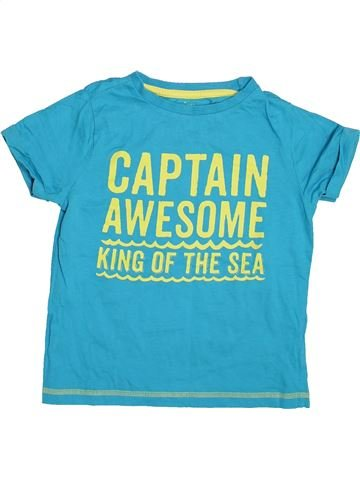 T-shirt manches courtes garçon F&F bleu 7 ans été #1498145_1