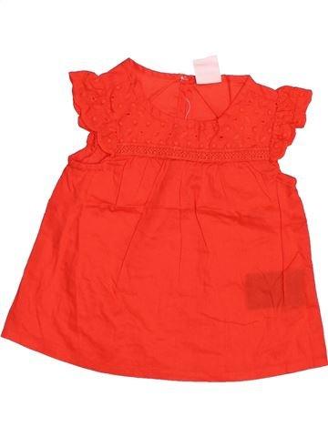 Blouse manches courtes fille H&M rouge 6 mois été #1498204_1