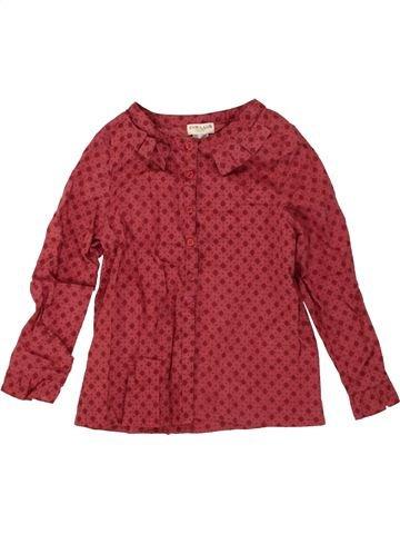 Blusa de manga larga niña CYRILLUS rojo 4 años invierno #1498272_1