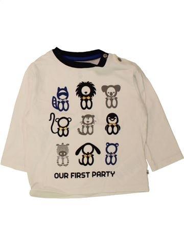 T-shirt manches longues garçon OKAIDI bleu 12 mois hiver #1498444_1