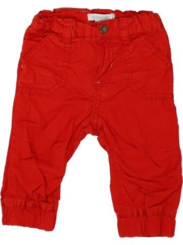 Pantalon garçon OKAIDI rouge 6 mois hiver #1498457_1