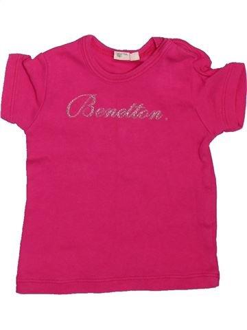 T-shirt manches courtes fille BENETTON rose 3 mois été #1498503_1