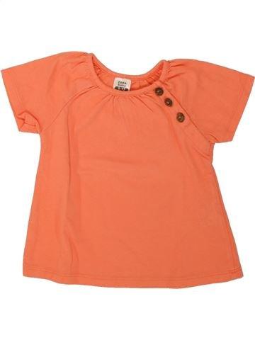 T-shirt manches courtes fille ZARA orange 12 mois été #1498508_1