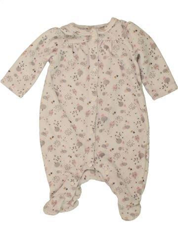 Pyjama 1 pièce fille DPAM beige 1 mois hiver #1498525_1