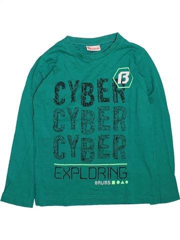 T-shirt manches longues garçon BRUMS vert 8 ans hiver #1498562_1