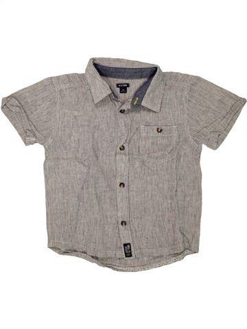 Camisa de manga corta niño KIABI gris 5 años verano #1498612_1