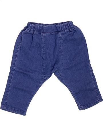 Pantalon garçon VERTBAUDET bleu 9 mois hiver #1498701_1