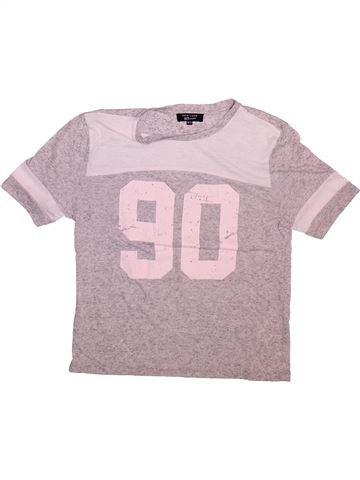 T-shirt manches courtes fille NEW LOOK gris 11 ans été #1498730_1