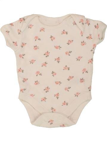 T-shirt manches courtes fille GEORGE beige 3 mois été #1498840_1