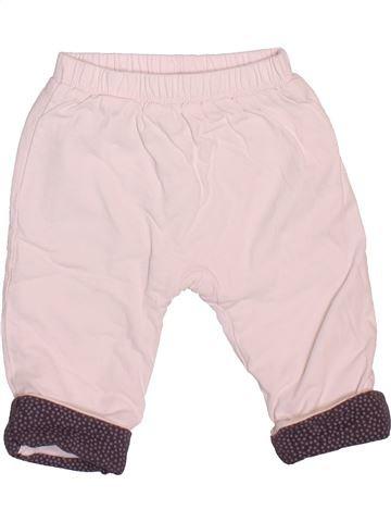 Pantalon fille OKAIDI rose 9 mois hiver #1498914_1
