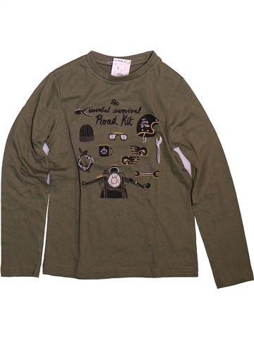 Camiseta de manga larga niño KIABI marrón 8 años invierno #1499055_1
