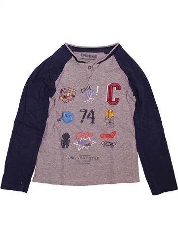 T-shirt manches longues garçon CREEKS gris 8 ans hiver #1499058_1