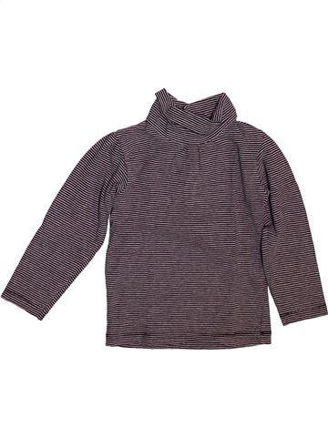Camiseta de cuello alto niña KIABI gris 3 años invierno #1499063_1