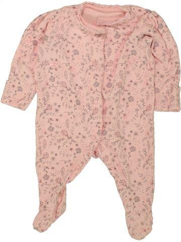 Pyjama 1 pièce fille GEORGE rose 3 mois été #1499095_1