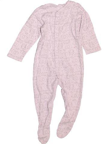 Pyjama 1 pièce garçon TU blanc 9 mois été #1499122_1