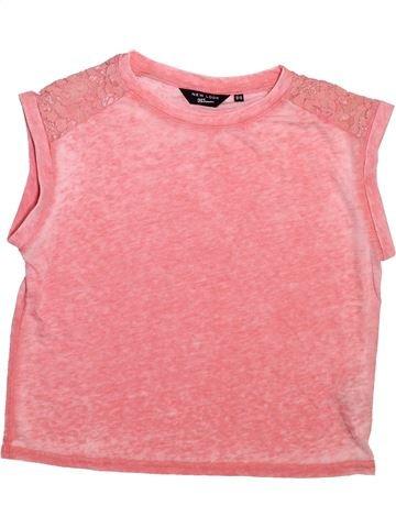 T-shirt manches courtes fille NEW LOOK rose 13 ans été #1499205_1