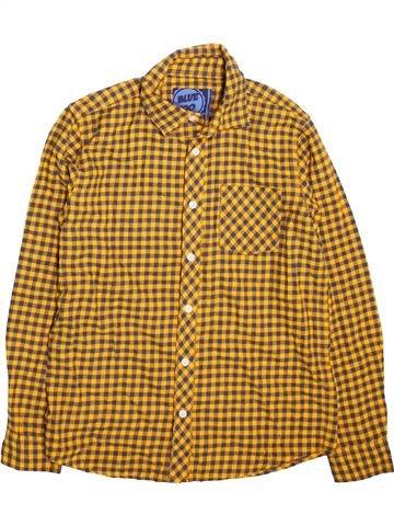 Chemise manches longues garçon BLUEZOO marron 13 ans hiver #1499254_1