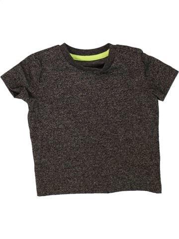 T-shirt manches courtes garçon F&F marron 9 mois été #1499415_1