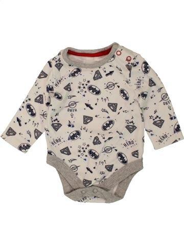 Camiseta de manga larga niño GEORGE blanco 3 meses invierno #1499427_1