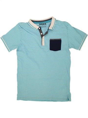 Polo manches courtes garçon BOYS bleu 13 ans été #1499434_1