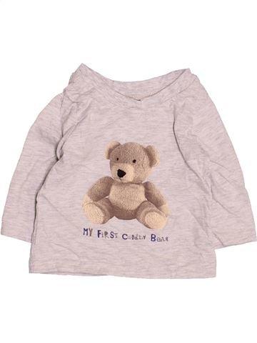 T-shirt manches longues garçon GEORGE blanc 3 mois hiver #1499481_1