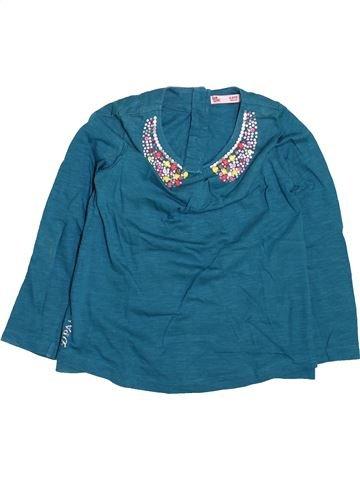 T-shirt manches longues fille DPAM bleu 4 ans hiver #1499562_1