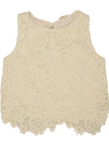 Camiseta sin mangas niña H&M beige 14 años verano #1499571_1