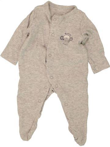 Pijama de 1 pieza niño GEORGE gris 1 mes verano #1499601_1