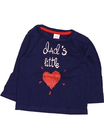 T-shirt manches longues fille ZARA bleu 9 mois hiver #1499663_1