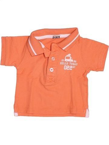 Polo manches courtes garçon TAPE À L'OEIL orange 6 mois été #1499708_1