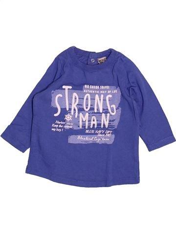 T-shirt manches longues garçon TAPE À L'OEIL violet 6 mois hiver #1499712_1