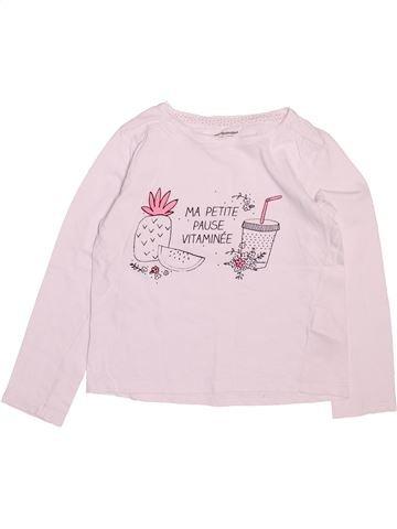 Camiseta de manga larga niña VERTBAUDET rosa 6 años invierno #1499778_1