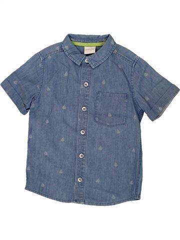 Chemise manches courtes garçon MINI CLUB bleu 4 ans été #1500082_1