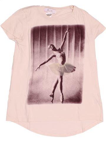 T-shirt manches courtes fille LA REDOUTE CRÉATION rose 10 ans été #1500100_1