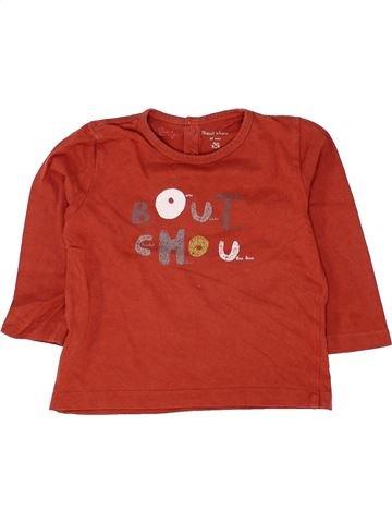 T-shirt manches longues garçon BOUT'CHOU rouge 18 mois hiver #1500308_1
