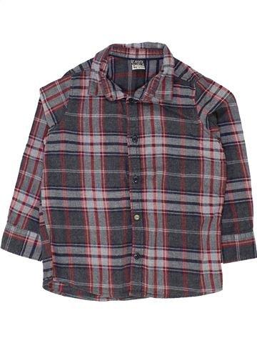 Chemise manches longues garçon TAPE À L'OEIL gris 3 ans hiver #1500328_1