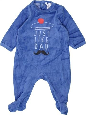 Pijama de 1 pieza niño LA REDOUTE CRÉATION azul 3 meses invierno #1500397_1