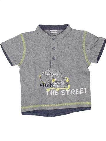 Camiseta de manga corta niño 3 POMMES gris 6 meses verano #1500412_1