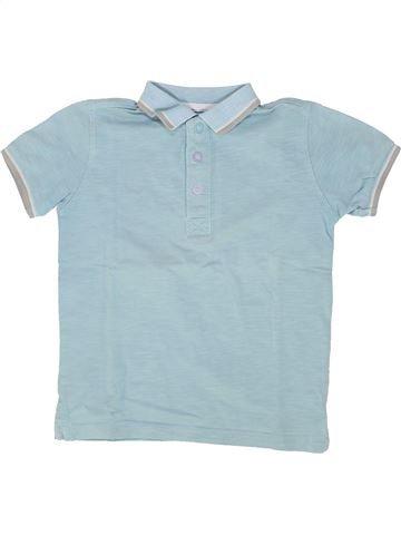 Polo manches courtes garçon VERTBAUDET bleu 5 ans été #1500417_1