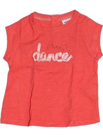 Camiseta de manga corta niña TAPE À L'OEIL rosa 6 meses verano #1500482_1