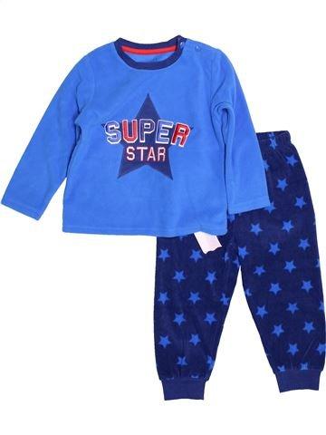 Pyjama 2 pièces garçon PRIMARK bleu 2 ans hiver #1500987_1