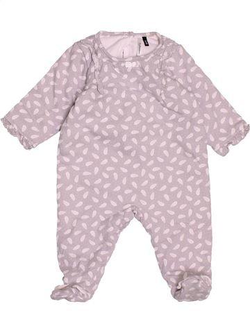 Pyjama 1 pièce fille 3 POMMES rose 3 mois hiver #1501160_1