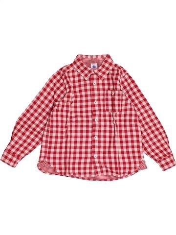 Chemise manches longues garçon PETIT BATEAU rose 5 ans hiver #1501213_1