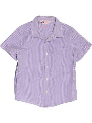 Chemise manches courtes garçon H&M violet 2 ans été #1501580_1
