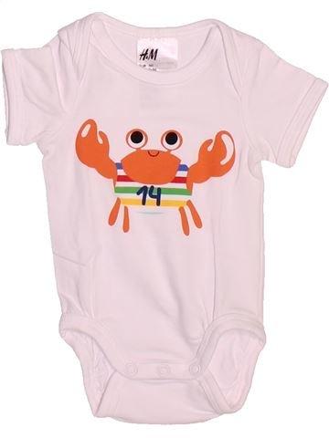 T-shirt manches courtes garçon H&M rose naissance été #1502088_1