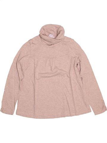 Camiseta de cuello alto niña CYRILLUS rosa 8 años invierno #1502181_1