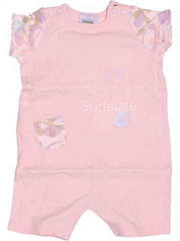 Combinación corta niña VERTBAUDET rosa 9 meses verano #1502369_1