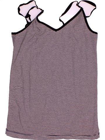 Camiseta sin mangas niña PETIT BATEAU gris 16 años verano #1502826_1