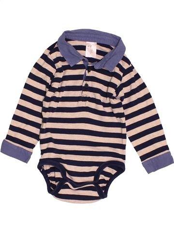 Polo de manga larga niño H&M violeta 9 meses invierno #1502881_1